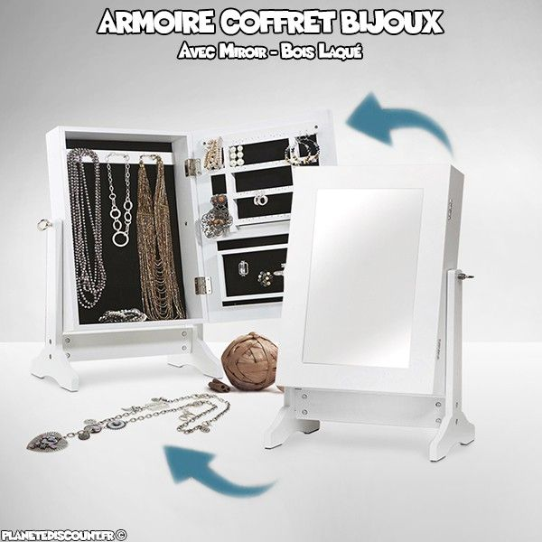 achat armoire coffret bijoux avec miroir prix de gros. Black Bedroom Furniture Sets. Home Design Ideas