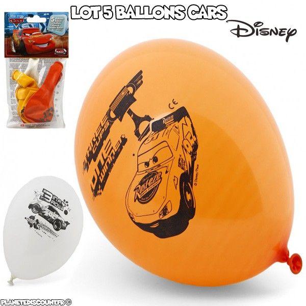 Lot de 5 ballons Disney - Cars