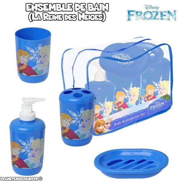 Set de salle de bain La Reine de Neiges (Frozen) - 4 pièces