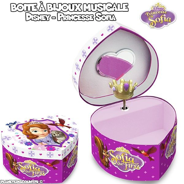 achat bo te bijoux musicale princesse sofia disney. Black Bedroom Furniture Sets. Home Design Ideas