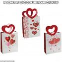 Pochette sac coeur pour cadeau