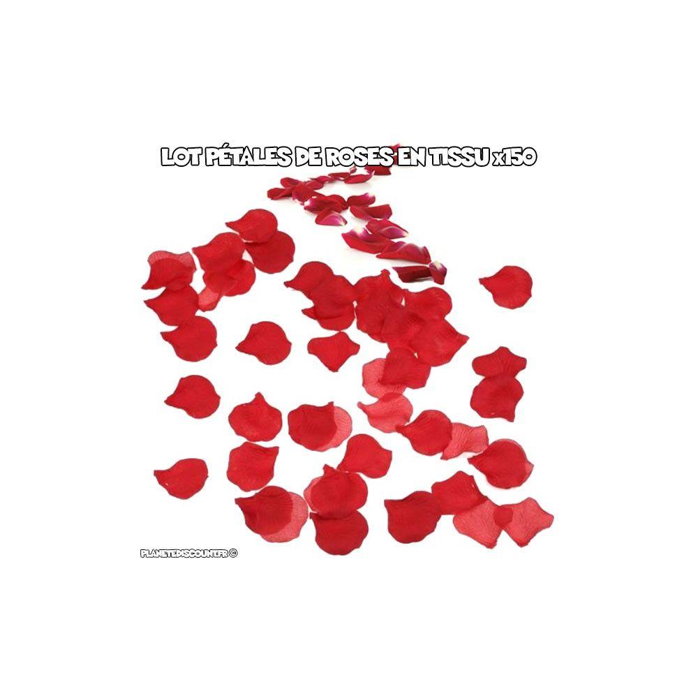 achat p tales de roses rouge en tissu x150 prix de gros dropshipping. Black Bedroom Furniture Sets. Home Design Ideas