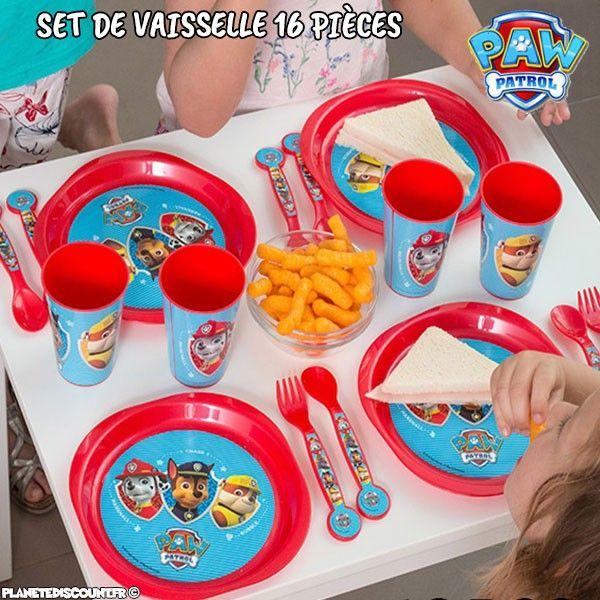 Set de vaisselle 16 pièces - La Pat'Patrouille