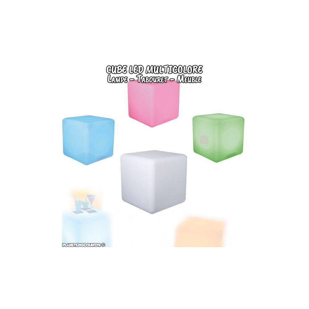 Prix grossiste cube lumineux led de 30 cm sans fil avec for Cube lumineux exterieur sans fil