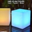 Lampe Cube LED sans fil avec télécommande