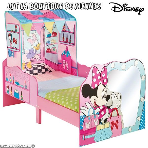 lit enfant la boutique de minnie mouse lit enfant disney pas cher. Black Bedroom Furniture Sets. Home Design Ideas
