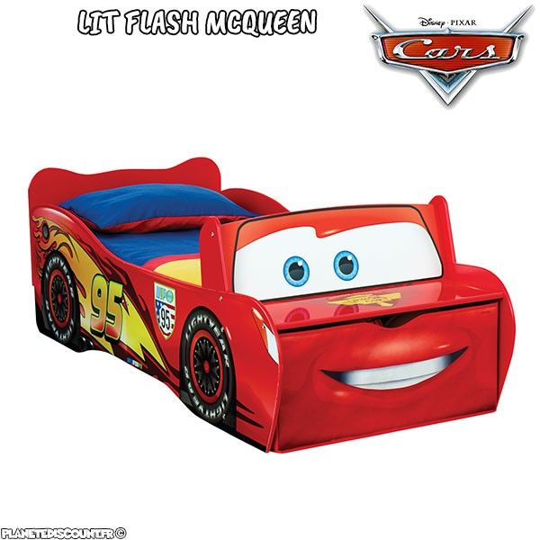 Lit enfant Cars Flash McQueen Disney