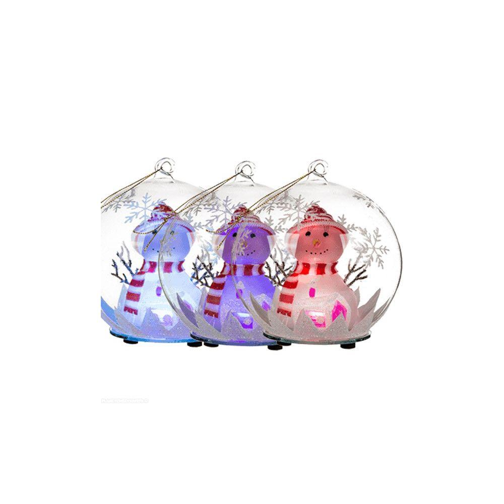 grossiste boule de no l en verre lumineuse bonhomme de. Black Bedroom Furniture Sets. Home Design Ideas