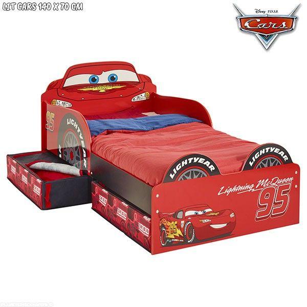 Lit enfant Cars avec rangements Disney