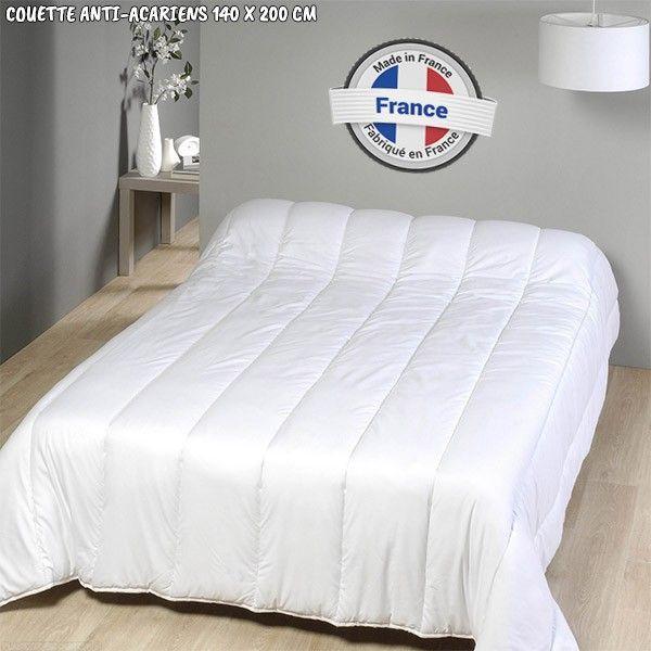 grossiste couette anti acariens fabrication fran aise 140 x 200 cm b2b. Black Bedroom Furniture Sets. Home Design Ideas