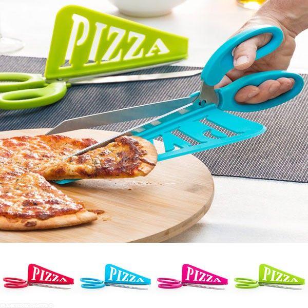 Ciseaux à pizza 2 en 1 grand modèle