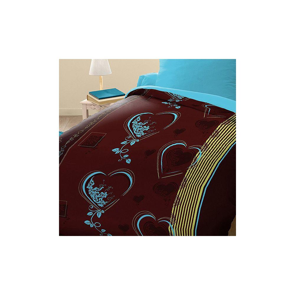 grossiste parure housse de couette microfibre 140x200 cm coeur b2b. Black Bedroom Furniture Sets. Home Design Ideas