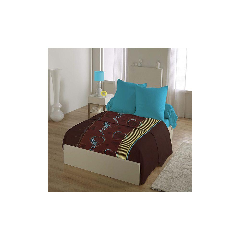 grossiste parure drap house microfibre 240x300 cm 4pcs coeur b2b. Black Bedroom Furniture Sets. Home Design Ideas