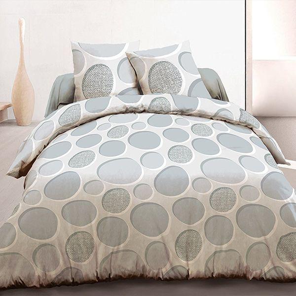 grossiste parure housse de couette 220x240 cm 100 coton cercles b2b. Black Bedroom Furniture Sets. Home Design Ideas