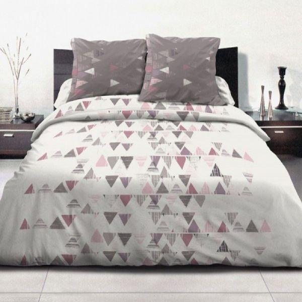 grossiste parure housse de couette 100 coton 240x260 cm terre de feu blanc b2b. Black Bedroom Furniture Sets. Home Design Ideas
