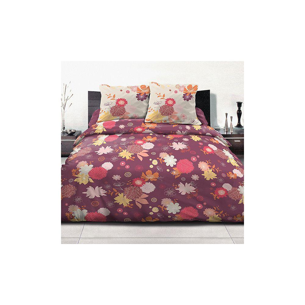 grossiste parure housse de couette 100 coton 240x260 cm fleurs d 39 t b2b. Black Bedroom Furniture Sets. Home Design Ideas