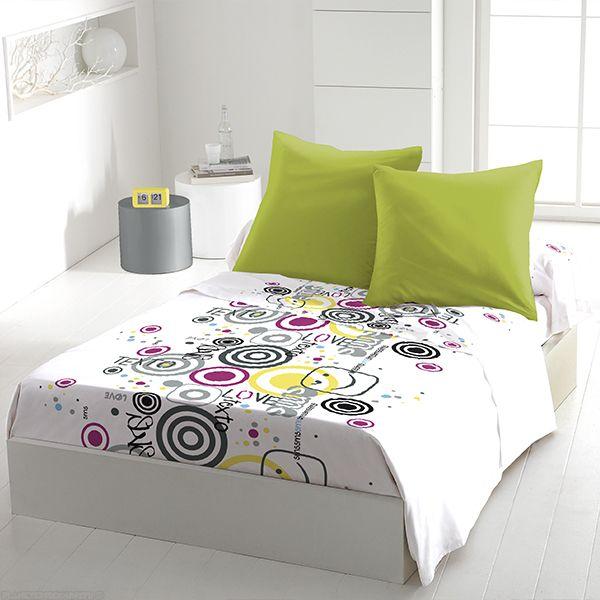 grossiste parure de drap microfibre 240x300 cm 4pcs texto love b2b. Black Bedroom Furniture Sets. Home Design Ideas