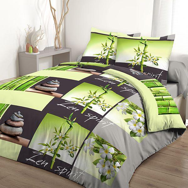 grossiste parure de couette 100 coton 240x260 cm jardin. Black Bedroom Furniture Sets. Home Design Ideas