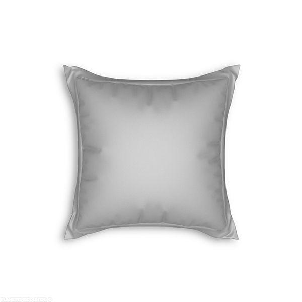 Taie d'oreiller avec volant 65x65 cm Gris clair