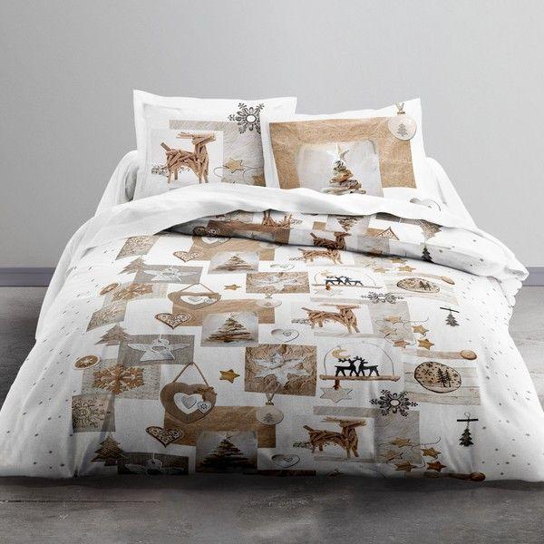 Parure de lit coton 220x240 cm Today Snow Deer