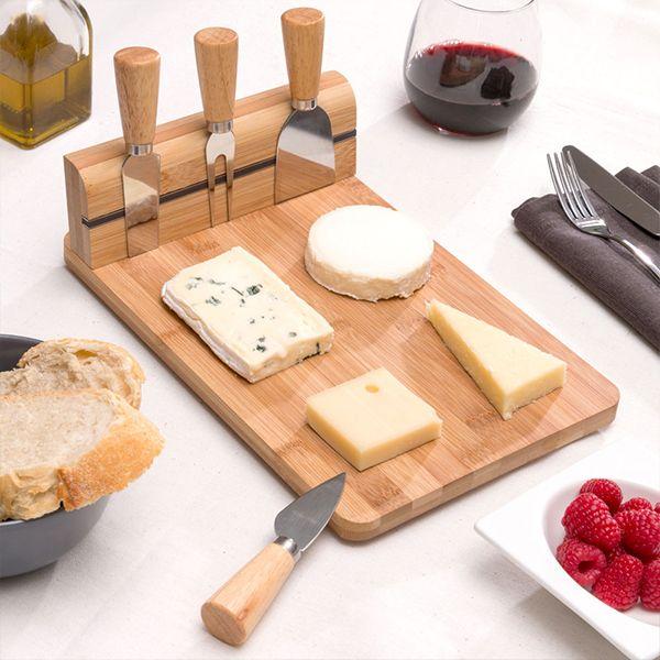 Plateau à fromages en Bambou avec accessoires