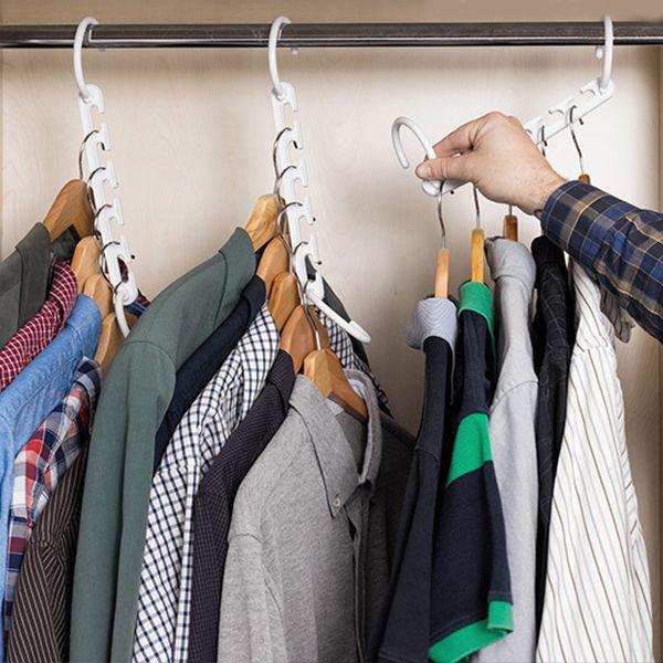 Organisateur de cintre x8 pour 40 vêtements