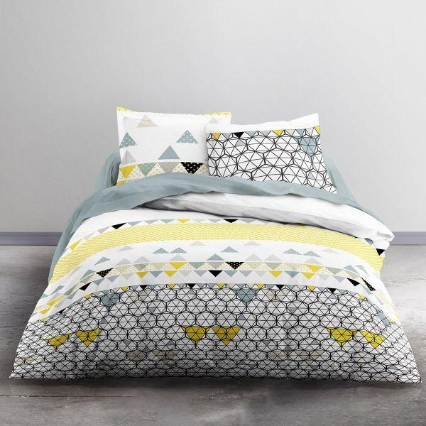 grossiste parure de couette coton 240x260 mawira ametrine b2b. Black Bedroom Furniture Sets. Home Design Ideas