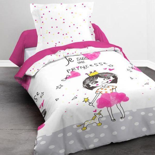 Parure de lit coton 140x200 cm Today Princesse