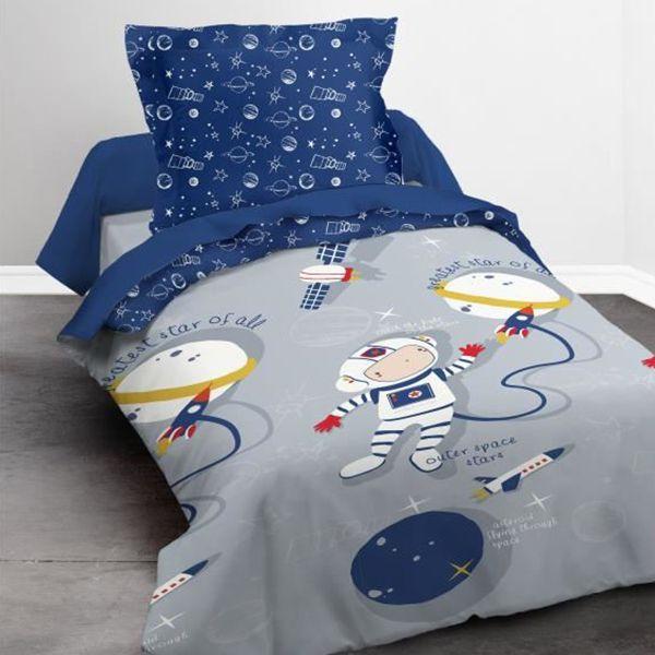 Parure de lit coton 140x200 cm Today Spaceman