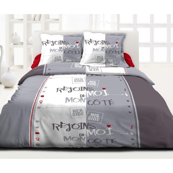 grossiste parure de couette coton rejoins moi 220x240 cm b2b. Black Bedroom Furniture Sets. Home Design Ideas