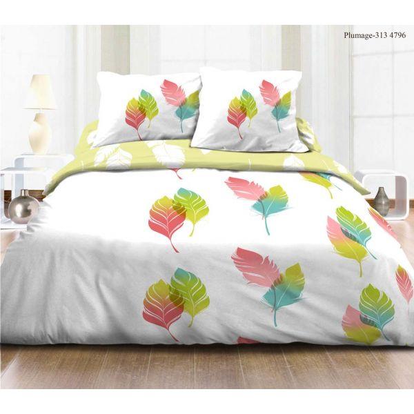 grossiste parure de couette coton plumage 220x240 cm b2b. Black Bedroom Furniture Sets. Home Design Ideas