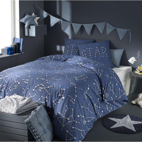 grossiste parure housse de couette coton cosmic 200x200 cm b2b. Black Bedroom Furniture Sets. Home Design Ideas