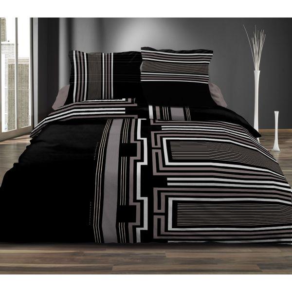 grossiste parure de couette microfibre intense black. Black Bedroom Furniture Sets. Home Design Ideas