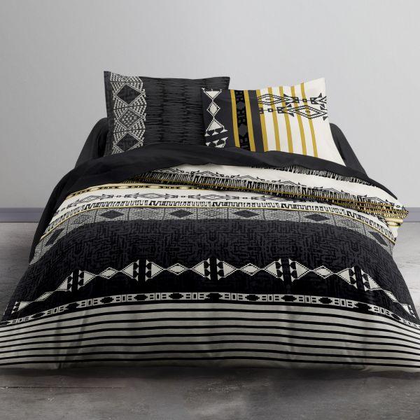 Fermeture éclair oreiller linge de lit schließbare longueur 135 cm marron foncé