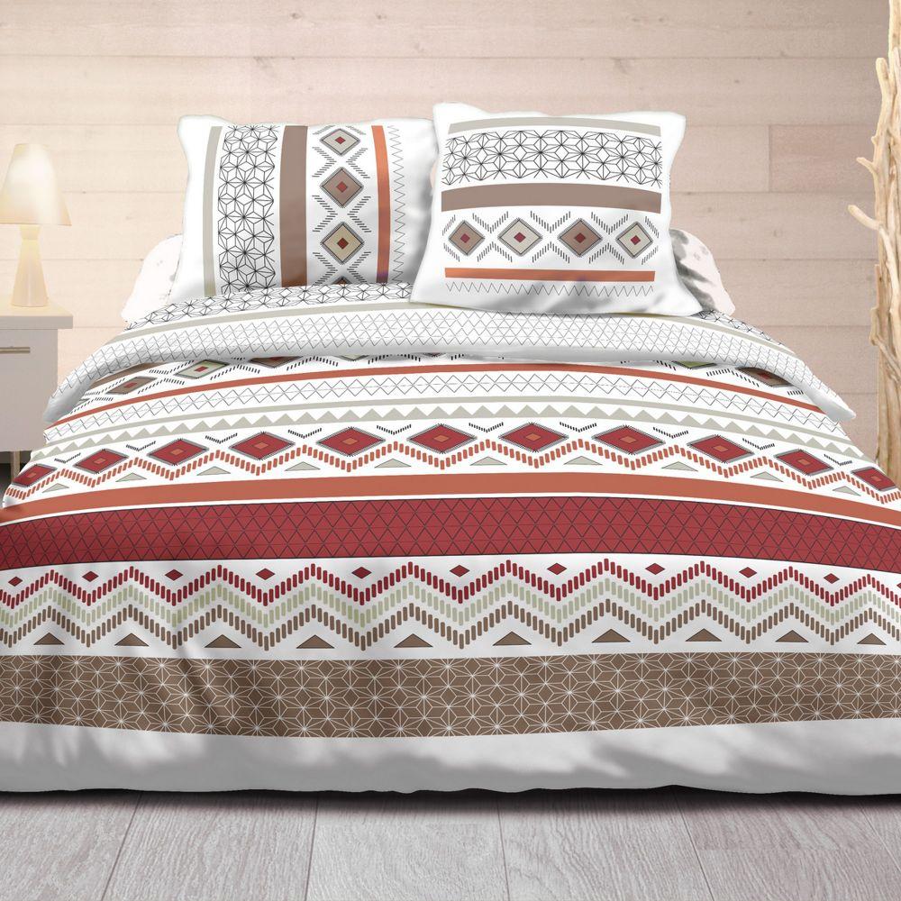 fournisseur de parure de couette 100 coton 57 fils maya rouge b2b. Black Bedroom Furniture Sets. Home Design Ideas