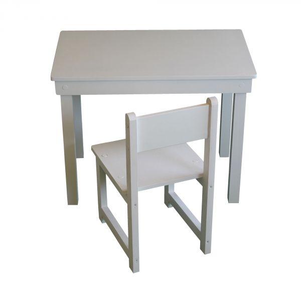 Ensemble table et une chaise en bois Made in France