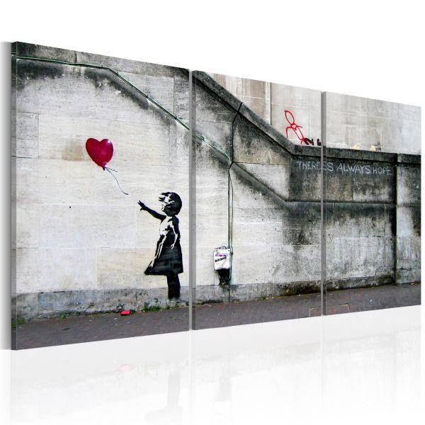 Tableau Il ya toujours de l'espoir Banksy - triptyque