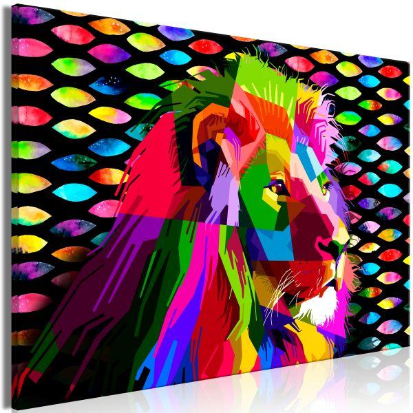 Tableau Rainbow Lion 1 Pièce Wide