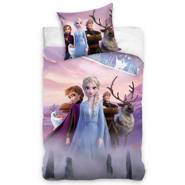 Parure de lit enfant La Reine des Neiges - Disney 100% coton 140x200 cm