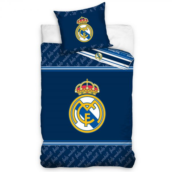 Parure de lit – Housse de couette Real Madrid bleu 100% coton 140x200 cm