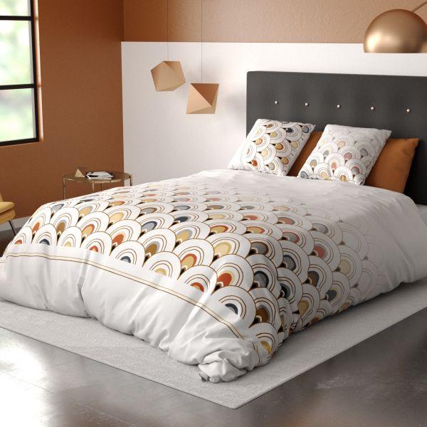 Housse de couette et taie d'oreiller 100% Coton 57 fils Decorama