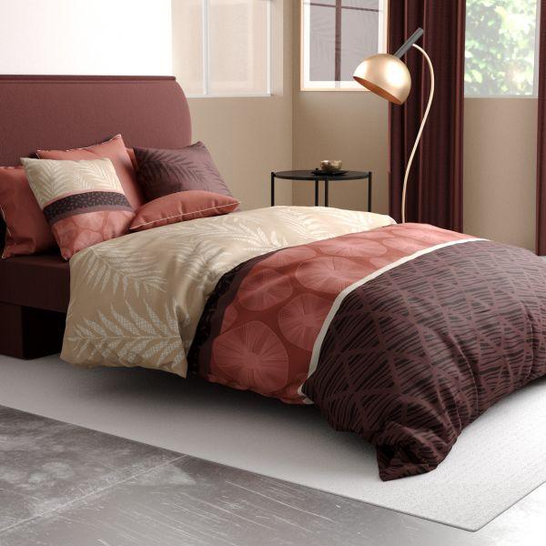 Parure de lit housse de couette avec taie d'oreiller 100% Coton 57 fils Jelly