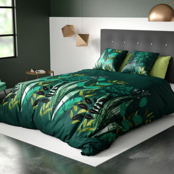 Parure de lit housse de couette avec taie d'oreiller 100% Coton 57 fils Miwa